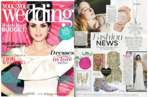 Rayne in You & Your Wedding magazine.